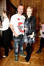 Monika Hilmerová a její manžel Jaro Bekr