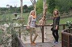 Lenka Filipová s dcerou Lenny pokřtily žirafí mládě.