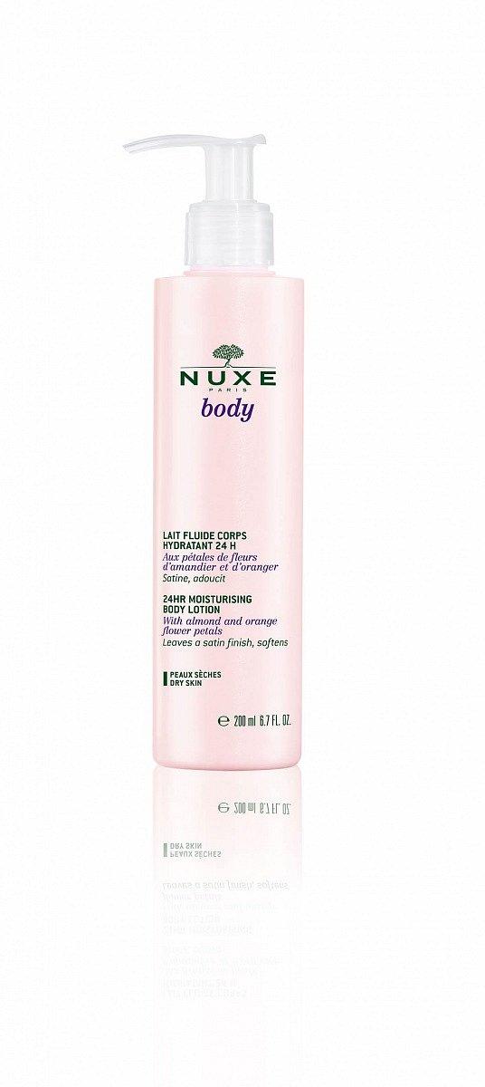 Tělové hydratační mléko Nuxe Body Lait Fluide Corps Hydratant 24H, cena 370 Kč.