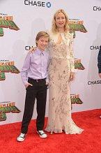 Herečka Kate Hudson vzala na premiéru filmu Kung Fu Panda 3 svého syna.