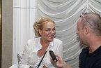 Dagmar Havlová při rozhovoru s Lukášem Vltavským