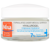 Krém Hyalurogel je skvělý pro citlivou pleť se sklonem k dehydrataci, Mixa, cena 250 Kč.