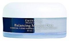 Hluboce čistící a vyhlazující maska Balancing Masque Duo pro smíšený a mastný typ pleti, zejména se sklonem k tvorbě akné. Éminence, 2× 30ml, 1500 Kč.