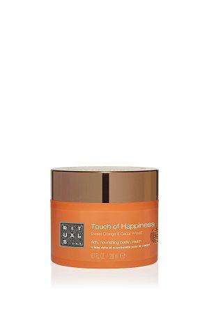 Rituals - Touch od Happiness - Bohatý tělový krém, pomeranč a cedrové dřevo, 200 ml, cena 419 Kc
