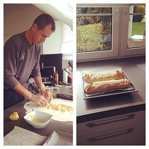 Lukáš Rosol umí nejen na kurtu, ale i v kuchyni!