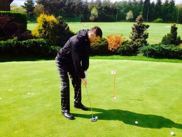 Petr si golf zamiloval