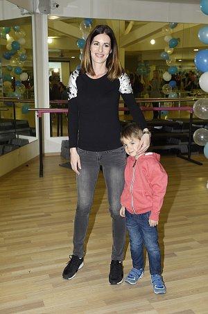 Lucie Křížková se synem