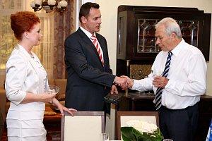 Petr Štěpán s Janou Janěkovou a Aloisem Švehlíkem