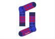 Červeno-modré ponožky Happy Socks s kohoutí stopou, vzor Dogtooth, k dostání na www.urbanlux.cz, cena 249 Kč.