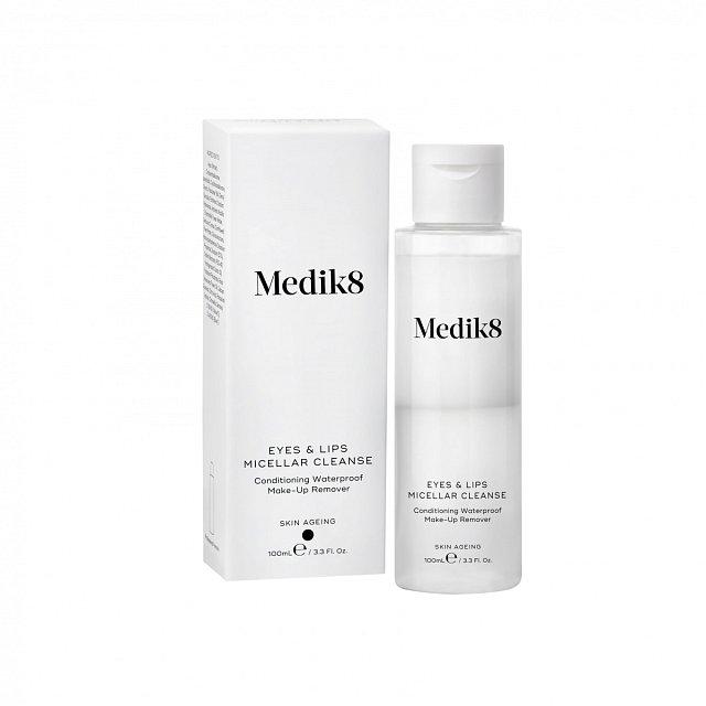 Odlíčení pro citlivou pleť Eyes & Lips Micellar Cleanse, odlíčí citlivé oční okolí i voděodolnou řasenku, Medik8, cena 400 Kč.