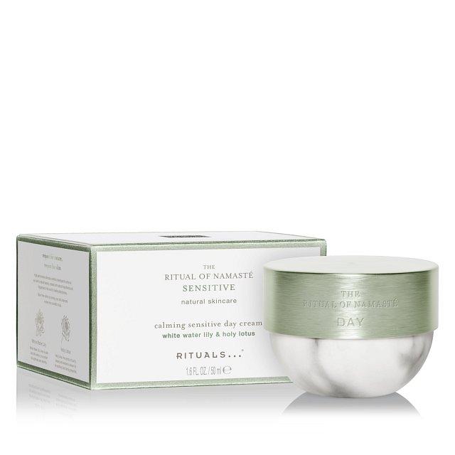 Zklidňující denní krém pro citlivou pleť The Ritual of Namasté Calming Sensitive Day Cream, Rituals.cz, 50ml, cena 895 Kč