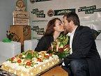 Svoje narozeniny vklubu oslavila Markéta Hrubešová, kterou doprovodil manžel David Kraus