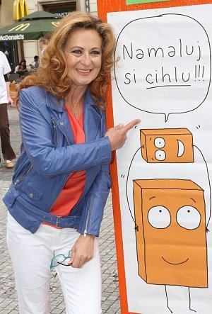 Simona Stašová tuto kampaň na podporu lidí s mentálním postižením podporuje už léta.