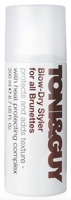 Sprej Blow-Dry Styler for all Brunettes pro ochranu vlasů při fénování, Toni & Guy, 200 ml 285 Kč