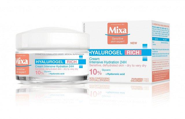 Intenzivní hydratační péče Hyalurogel Rich, Mixa, cena 249 Kč.