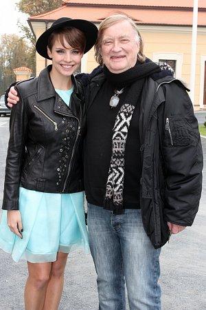 Režisér Vít Olmer s Gábinou Kratochvílovou