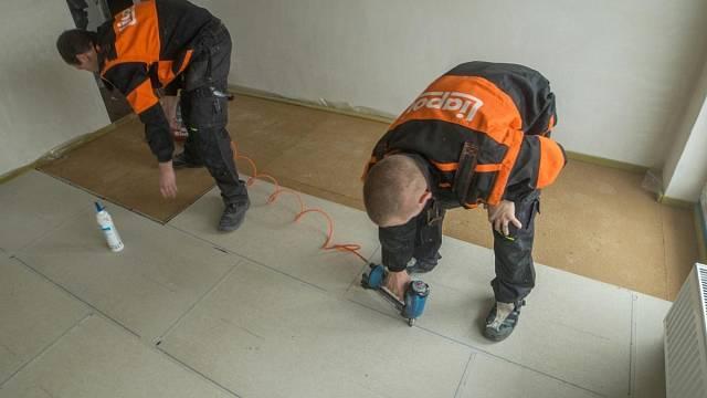 Postup pokládky podlahy Liapor