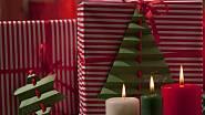 Vizitky jako vánoční stromek a hvězda