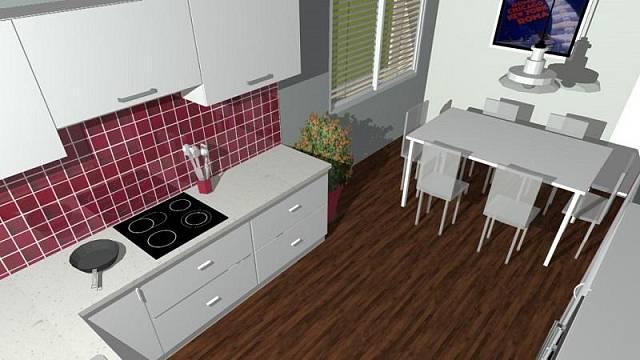 3D návrh: Kuchyně, která se neokouká