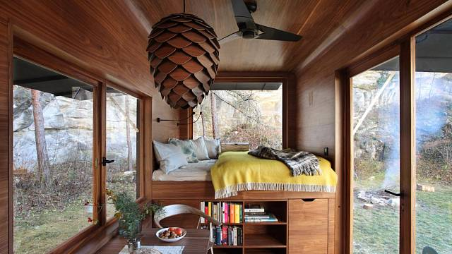 Aranka v ořechu, Martin Kožnar Architekt s.r.o.; Vítěz odborné poroty v kategorii Dřevěné interiéry – realizace
