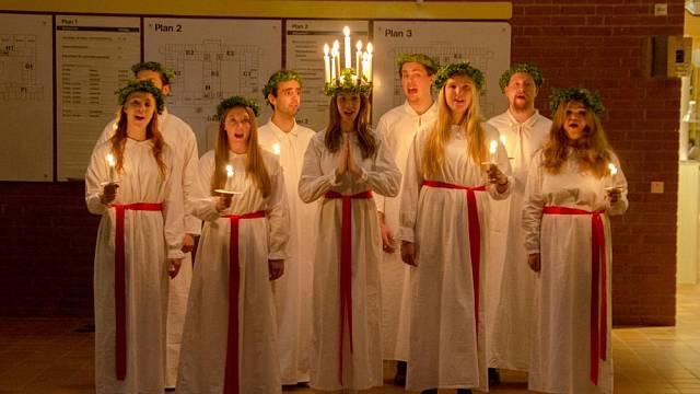 Tradice sv. Lucie se dodnes drží ve Švédsku
