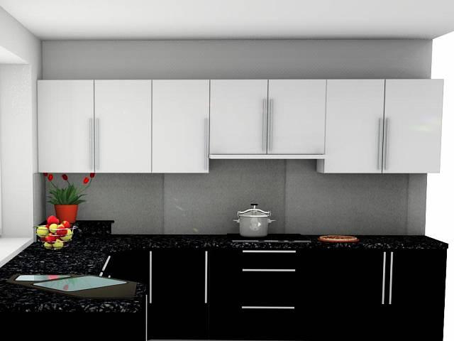 černobílá kuchyně 3