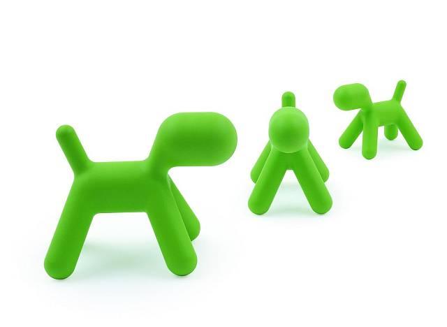 Puppy (štěně), abstrakce psa z dětské kolekce Me Too od italské firmy Magis, se stal její ikonou. Navrhl ji již v roce 1973 finský designér Eero Aarnio, používá se jako židlička, hračka nebo dekorace. Je vyrobena z polyethylenu a k dostání je ve třech ...