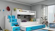 Dětská patrová postel Max 4 s přistýlkou. Výrobce: FALCO