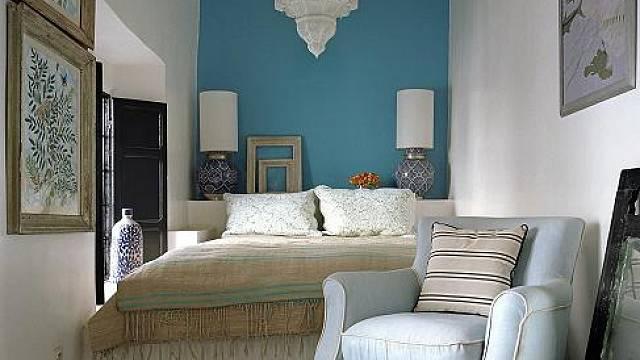 Tyrkysová barva v interiéru