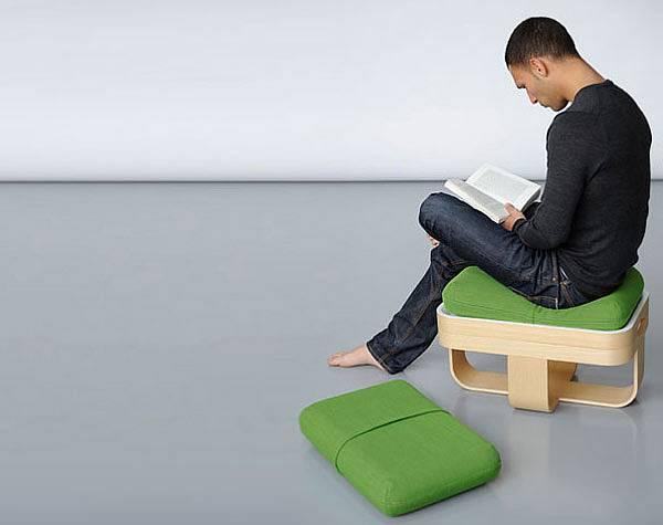 Židle-stolek-polštáře 2