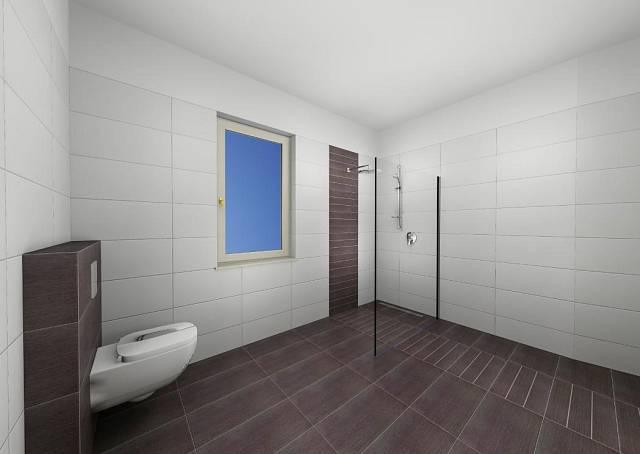 Koupelna se záchodem v přízemí