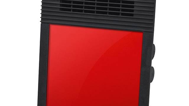 Nejrychlejší jsou teplovzdušné ventilátory. Mohou být buď klasického vzhledu nebo jako tady velmi moderního. Vytopí malou místnost (třeba koupelnu) velmi rychle, ale také velmi rychle chladnou. Na obrázku výrobek Steba HL 638C1