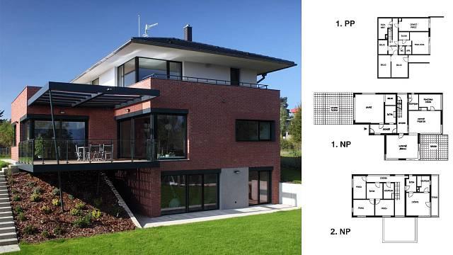 Individuální projekt (Stings 96, s.r.o.) Počet místností 7+1, zastavěná plocha 200,0 m2, podlahová plocha 346,0 m2