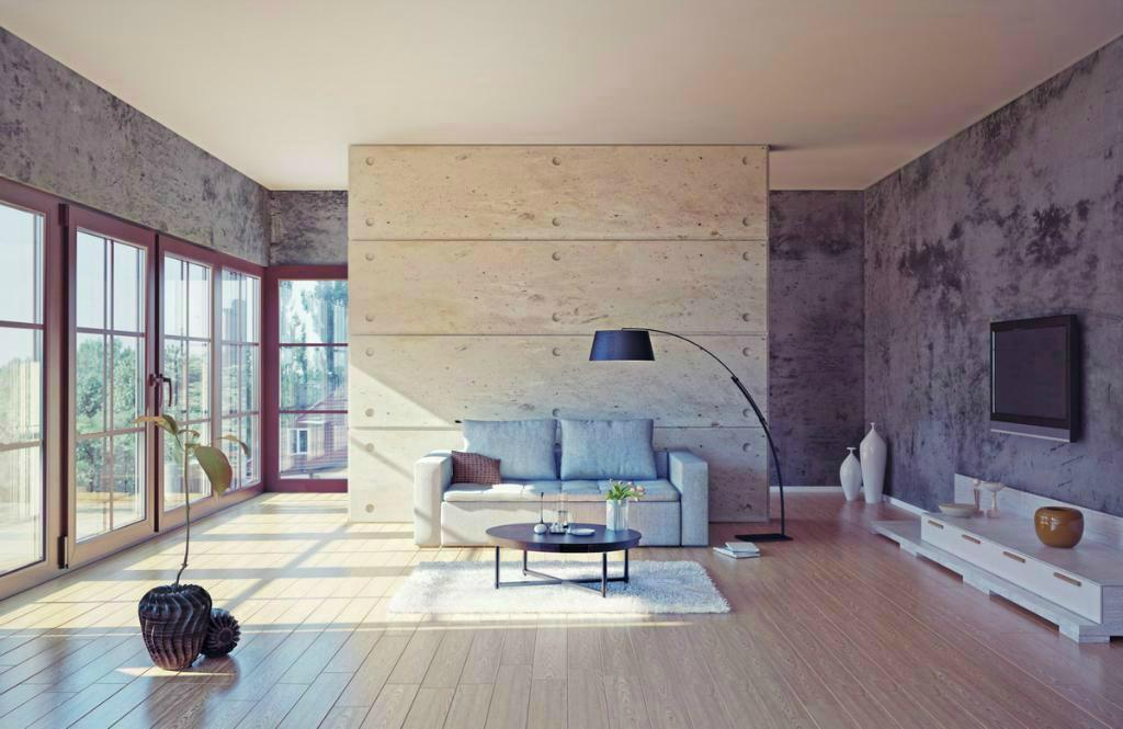beton eleg n s drsnou tv d m a zahrada bydlen je hra. Black Bedroom Furniture Sets. Home Design Ideas