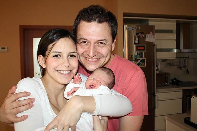 Vojta Bernatský s rodinou