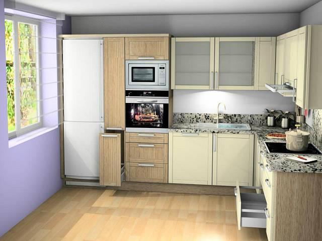 Lednice zůstala z původní kuchyně