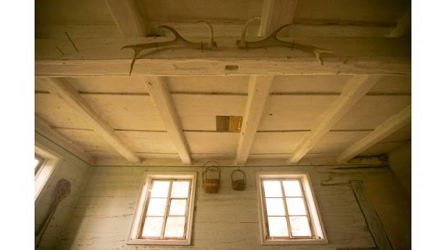 Pohled na původní stropy