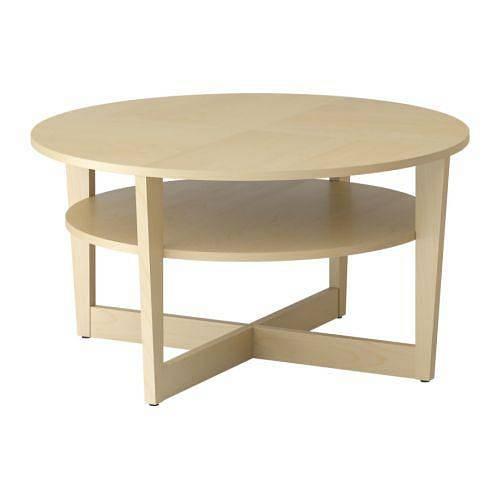 Konferenční stolek VEJMON průměr 90 cm výška 47 cm z IKEA za 2990 Kč
