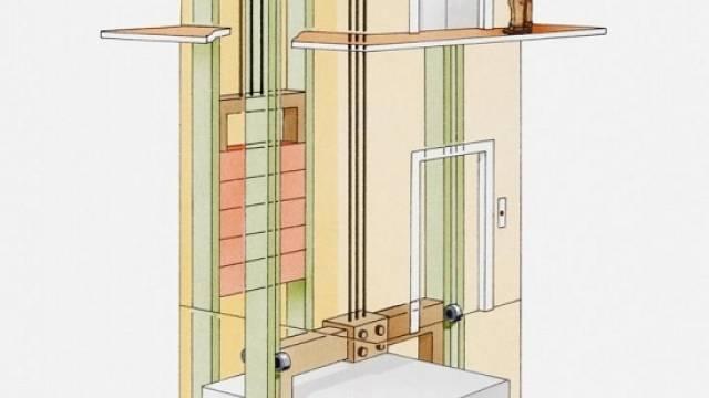 Lanové výtahy s protizávažím jsou určeny hlavně do velkých domů s více patry