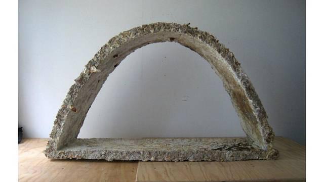 Zatím nejsložitější stavba, kterou se podařilo z houbových cihel vyrobit.