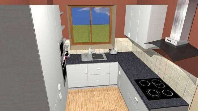 Kuchyně bez barpultu