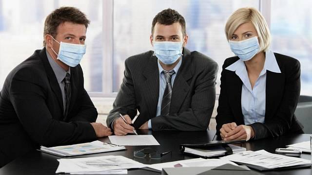 Nemocní v kanceláři