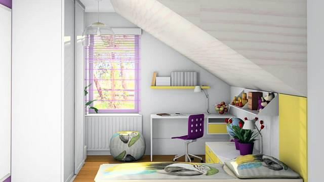 Dětský pokoj v podkroví