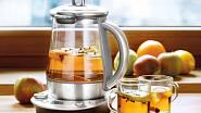 Kromě horké vody připraví tento šikovný pomocník SP 8010 například cider, svařák nebo dokonce jogurt, cena 4190 Kč.