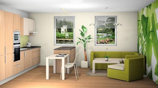 Návrh na přání: Kuchyně spojená s obývacím pokojem 5