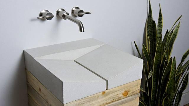 Betonové umyvadlo