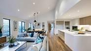 Kuchyň spojená s obývákem