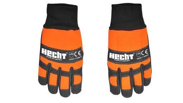 Ochranné pracovní rukavice HECHT 900108 se speciální ergonomií a gumovými protiskluzovými částmi; cena 439 Kč