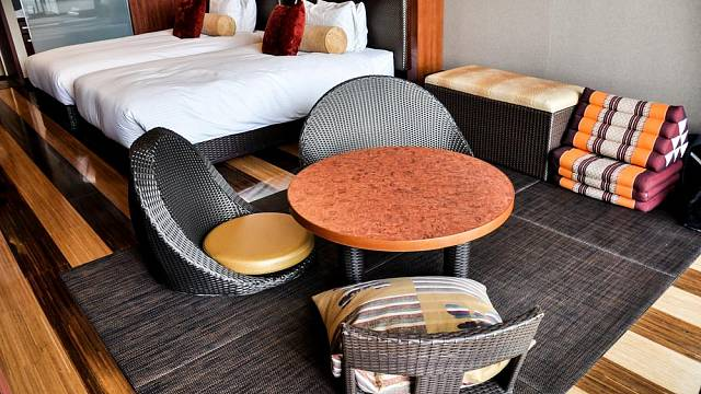 Rohože tatami se využívají nejen v domácnostech, ale i v typických japonských hotelích a pensionech.