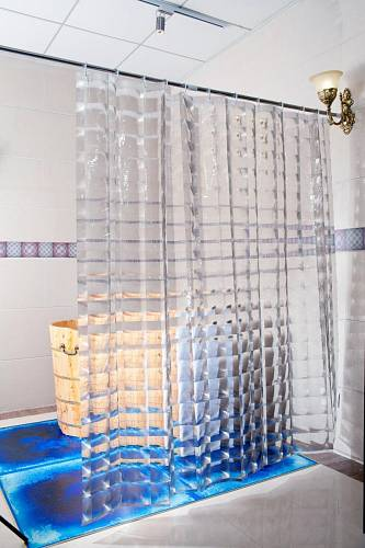 Dushy 3D sprchový závěs transparentní, materiál EVA / www.radostzdomova.cz